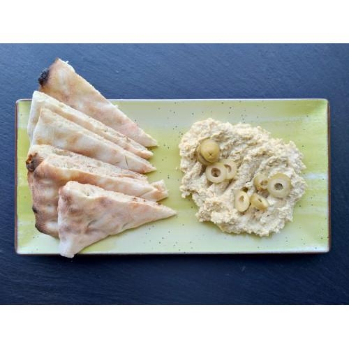 Hummus Cu Măsline Verzi Și Focaccia 400gr