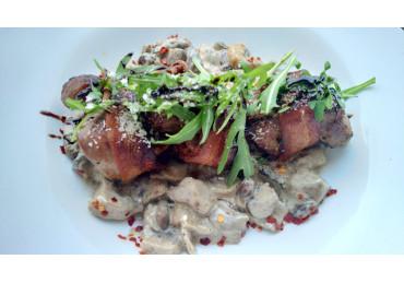 Pork Loin With Mushrooms Sauce
