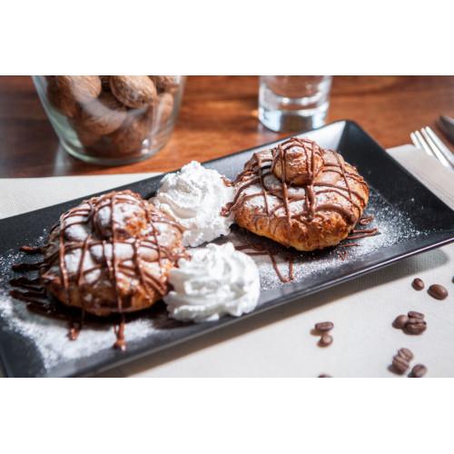 Papanași Cu Ciocolată si Frișcă Vegetală